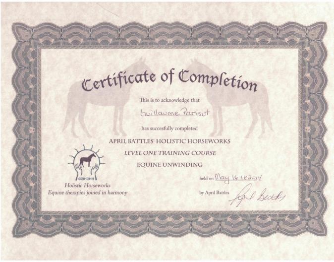 certificat April battles