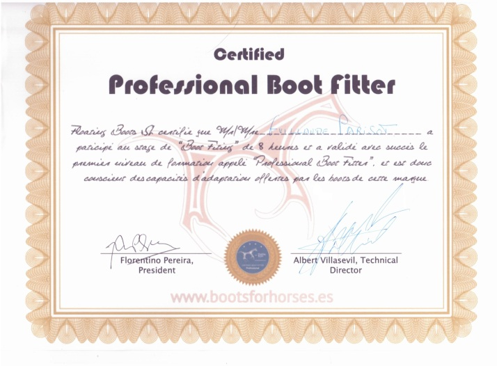 Certificat Floating boots